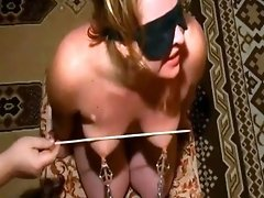 Caning of the tits