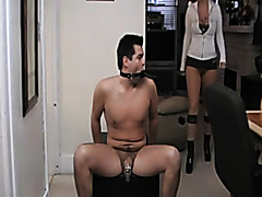 Shannon - Dong in Chastity and this guy has to take up with the tongue her love tunnel