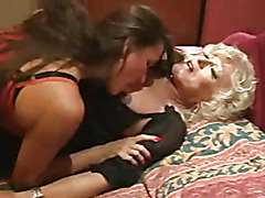Dominant MILF and her sissy lover in action