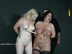 Two amateur bdsm slaves tit tortured and cruel domination