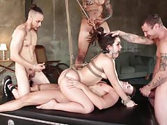 Kimber Woods Gets Banged Hard By 4 Guys