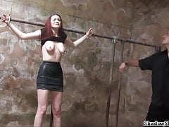 Filthy slaveslut whipping and dirty dungeon tortures